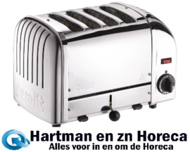 F209 - Dualit Vario broodrooster 4 sleuven RVS 40352