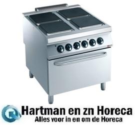 E22/4PQF8-N - Elektrisch fornuis 4 platen, elektrische oven DIAMOND