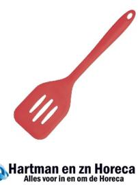 GL217 -Kitchen Craft siliconen flexibele geperforeerde bakspaan rood 31cm