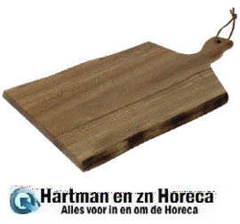 GM263 - Olympia Acacia plank golvende rand 30,5 x 21,5 cm