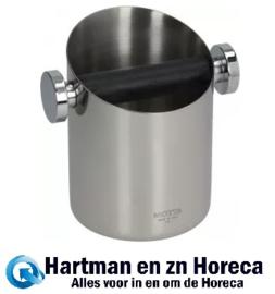 2411080163 - Koffie afklopbak RVS Afm : ø 110 mm - H 150 mm