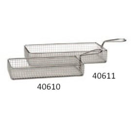 "40610 - RVS FRIETMANDJE ""SNACK HOLDER"", 21,5×10,5XH4,5 CM"
