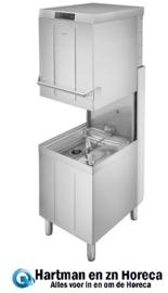 053HTY511DSH - Dubbelwandige professionele Smeg doorschuiver vaatwasser, SHR+ Stoomcondensatiesysteem, drukverhogingspomp en atmosferische boiler (HTR), afvoerpomp en drievoudig dynamisch filtersysteem, 500 mm korf, met ingebouwde automatiswaterontharder