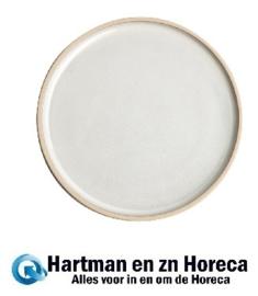 FA328 -Olympia Canvas platte ronde borden wit 18cm 6stuks