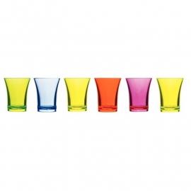 CB880 - Polystyreen shotglas gemengde kleuren 2,5cl - per 24 stuks
