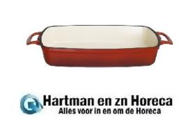 GH320 -Vogue rechthoekige gietijzeren ovenschaal rood 2,8L
