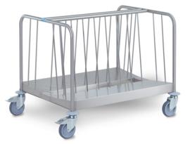 0163481 - Hupfer TETW / n 26/02 bordentransportwagen, 270 stuks serviesgoed lage versie 2-zijdig belastbare staal
