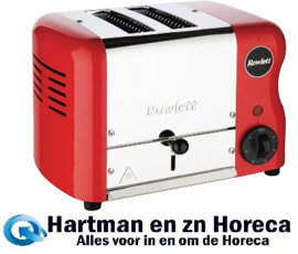 DR065 - Rowlett Esprit broodrooster 2 sleuven rood