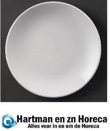 U078 - Olympia Whiteware coupe borden - Bord 23cm. Prijs per 12