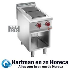 E9/2PQA4  - Elektrisch fornuis met 2 kookplaten op open kast DIAMOND
