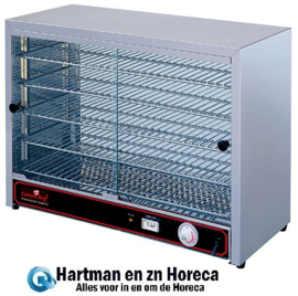 680050 - CaterChef warmhoudvitrine - 640 x 360 x 530 mm (bxdxh)