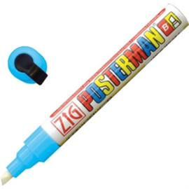 Y988 - Zig posterman weerbestendige stift licht blauw 6 mm