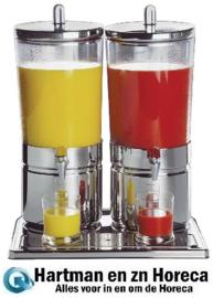 CF066 - APS drankendispenser rvs 2 x 6 liter
