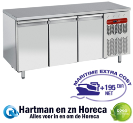 TP3N/H-R2 - Koelwerkbank 3 deurs patisserie 2030x800x900 DIAMOND