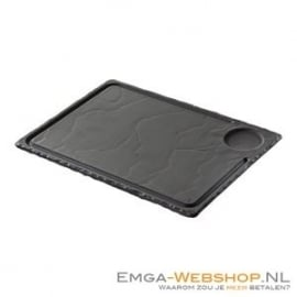 735555 - STEAKBORD uit porselein met leisteen-look H 10 X L 300 X B 240 MM