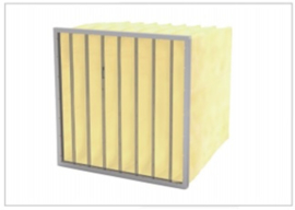 02210 - Glasvezel zakkenfilter, klasse F9 - IFG95 - B592 X H592 X D600 - 8 ZAKKEN