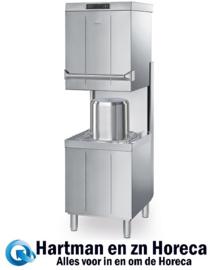 HTY511DW - Dubbelwandige professionele Smeg doorschuif vaatwasser , drukverhogingspomp en atmosferische boiler (HTR), afvoerpomp en drievoudig dynamisch filtersysteem, 500 mm korf EASYLINE