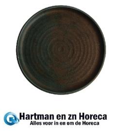 FA324 -Olympia Canvas ronde borden met smalle rand groen 26,5cm -6stuks