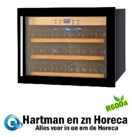 455464018 - Wijnklimaatkast 16 flessen bedrijfsklaar met statische koeling en glazen deur NORDCAP