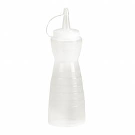 GF250 - Vogue knijpfles met dop 340ml transparant