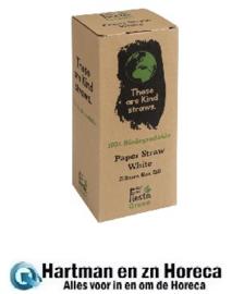 DE925 -Fiesta Green composteerbare papieren rietjes wit