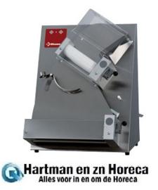 P42/X - Pizzaroller Ø 420 mm, 2 rollen, in R.V.S. DIAMOND