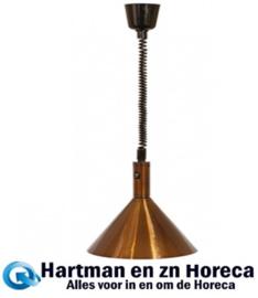 093041 - Warmhoudkap 28 cm hoogte instelbaar - Brons 230 Volt