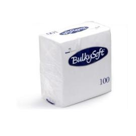 BULKYSOFT SERVETTEN 40 X 40  X 2 LAAGS 1/4 VOUW