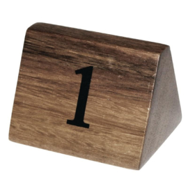 CL392 - Olympia houten tafelnummers 1-10
