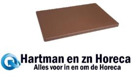 DM003 - Hygiplas LDPE extra dikke snijplank bruin