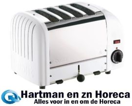 F211 - Dualit Vario broodrooster 4 sleuven wit 40355