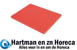GH794 -Hygiplas LDPE snijplank rood 305x229x12mm