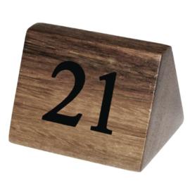 CL298 - Olympia houten tafelnummers 21-30