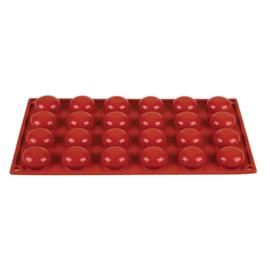 N940 - Pavoni Formaflex siliconen bakvorm 24 pomponettes