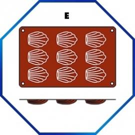 070054 - BAKMAT POMPENETTE 1/3 GN in blister-verpakking  68 X 45 MM / HOOG 17 MM