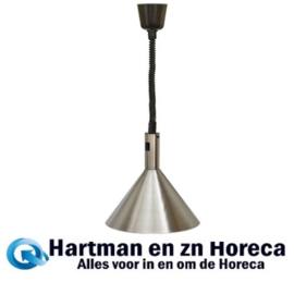093040 - Warmhoudkap 28 cm hoogte instelbaar aluminium - 230 Volt