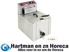 "F12TR/SP - Elektrische friteuse tafelmodel ""S-POWER"" 12 liter + kraan DIAMOND"