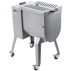 MCR-50P/NS - Vleesmenger in R.V.S. 50 kg, onderstel op wielen