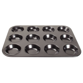 GD013 - Vogue koolstofstalen antikleef bakvorm 12 mini-muffins