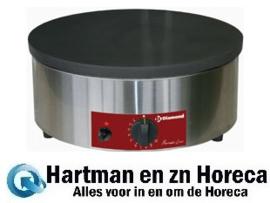 """BRET/1G-HR -  Gaspannekoekplaat hoog rendement, Ø 400 mm """"geëmailleerd"""" DIAMOND"""