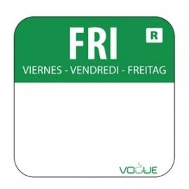 L935 - Kleurcode sticker vrijdag/groen
