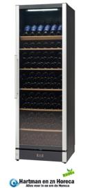 477800185 - Wijnklimaatkast 191 flessen bedrijfsklaar vrijstaand of in te bouwen , zwart, uitrusting met glazen deur NORDCAP W185
