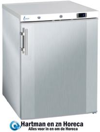 BC145 - Geventileerde RVS koelkast tafelmodel L600 x B600  x H860 mm TOPCOLD