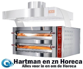 GDX12/35-DP - Elektrische oven, 2 kamers, 2x 6 pizza's Ø 350 mm DIAMOND