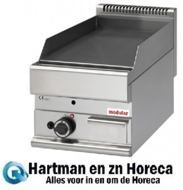 316031 - Bakplaat 400 mm glad gas 650 MODULAR