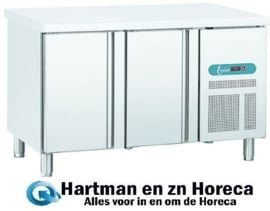 EURO SN2 - EURO LINE 60 Geventileerde koelwerbank 2 deuren Afmetingen: (L) 1492 X (B) 600 X (H) 850 Topcold