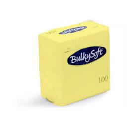 T32263 - Bulkysoft Servetten 2 Laags 40×40 1/4 Vouw 2000 st Lemon