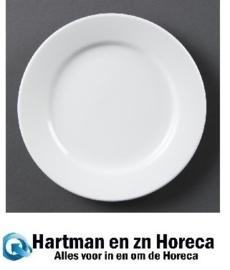CB481 - Olympia Whiteware borden met brede rand - 25cm. Prijs per 12 stuks.