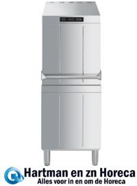 HTY511DH - Dubbelwandige professionele Smeg doorschuiver vaatwasser , SHR+ Stoomcondensatiesysteem, drukverhogingspomp en atmosferische boiler (HTR), afvoerpomp en drievoudig dynamisch filtersysteem, 500 mm korf
