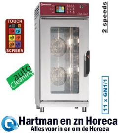 FVS-1111/TS - Combisteamer elektrische oven 11x GN1/1 Touch Screen + Auto-Cleaning DIAMOND
